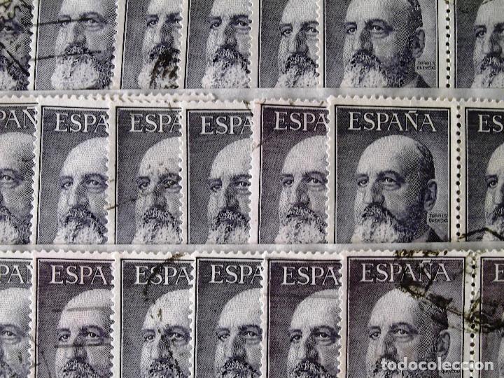 1165, SETENTA Y DOS SELLOS USADOS, EN PAREJAS, FOTO PARCIAL REAL. TORRES. (Sellos - España - II Centenario De 1.950 a 1.975 - Usados)