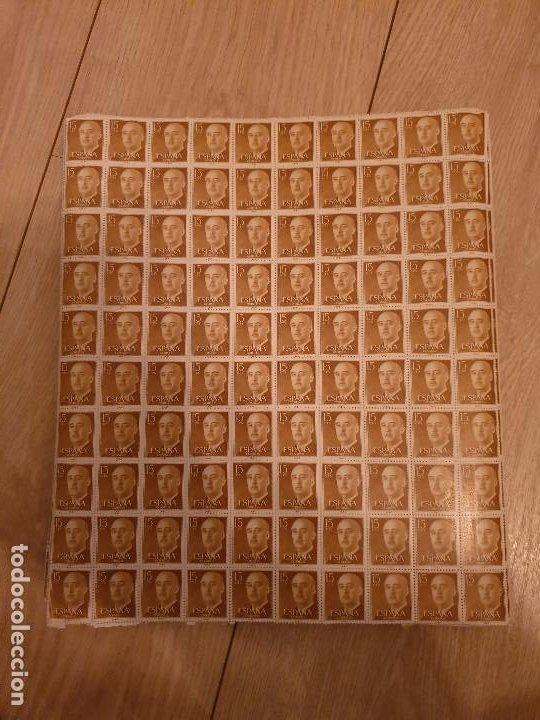 15 HOJAS 100 DE SELLOS DE 15 CTS DEL GENERAL FRANCO ESPAÑA 1955-1956 (Sellos - España - II Centenario De 1.950 a 1.975 - Nuevos)