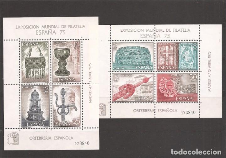 SELLOS DE ESPAÑA AÑO 1975 EXPO MUNDIAL FILATELIA 75 , HB NUEVAS (Sellos - España - II Centenario De 1.950 a 1.975 - Nuevos)