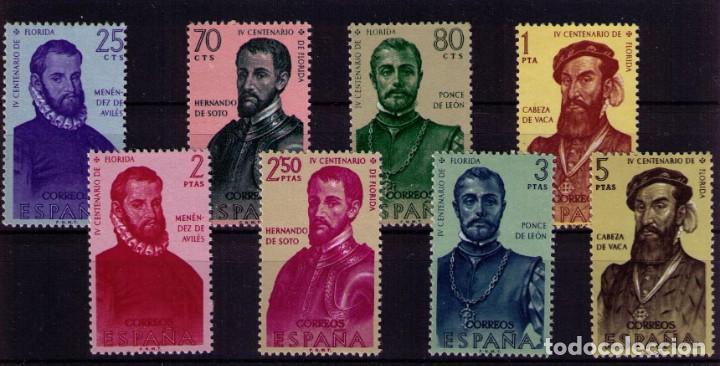 SELLOS DE ESPAÑA AÑO 1960 FORJADORES , SELLOS NUEVOS CON GOMA ORIGINAL. (Sellos - España - II Centenario De 1.950 a 1.975 - Nuevos)