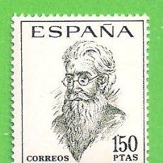 Francobolli: EDIFIL 1758. LITERATOS ESPAÑOLES - RAMÓN MARÍA DEL VALLE INCLÁN. (1966).** NUEVO SIN FIJASELLOS.. Lote 189266333