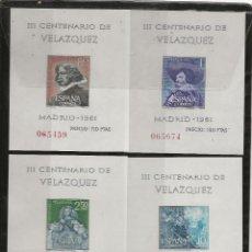 Sellos: R37.G7/ ESPAÑA EN NUEVO, 1961, MNH /**/ EDF. 1344/47, VELAZQUEZ, CAT. 36,00€. Lote 189509028