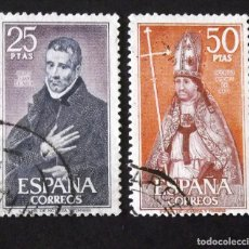Sellos: 1961-2, DOS SERIES USADAS, FOTO ESTÁNDAR. PERSONAJES.. Lote 190217656