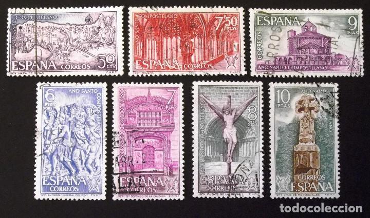 2047-53, DOS SERIES USADAS, FOTO PARCIAL REAL. COMPOSTELANO. (Sellos - España - II Centenario De 1.950 a 1.975 - Usados)