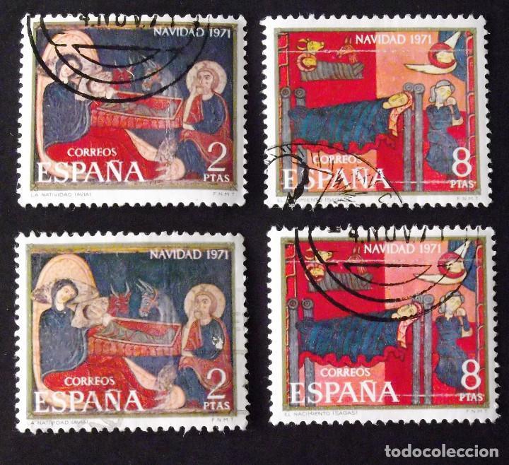 2061-2, DOS SERIES USADAS. NAVIDAD. (Sellos - España - II Centenario De 1.950 a 1.975 - Usados)
