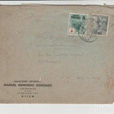 Sellos: LOTE X-CARTA SOBRE COMERCIAL GIJON MATA SELLOS FACTURAS PAGARE 1951. Lote 190868845