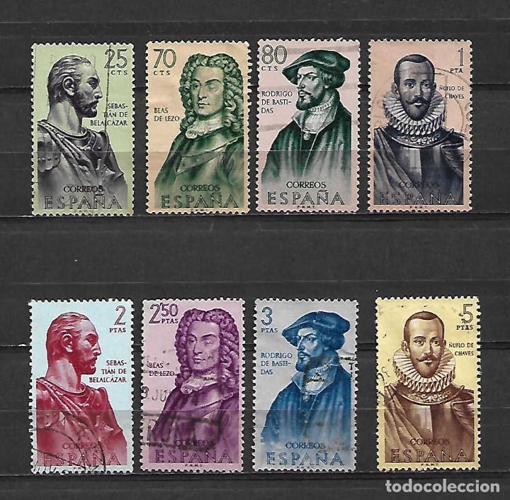 FORJADORES DE AMÉRICA (2ºSERIE) . ESPAÑA. EMIT. 1374/81 (Sellos - España - II Centenario De 1.950 a 1.975 - Usados)