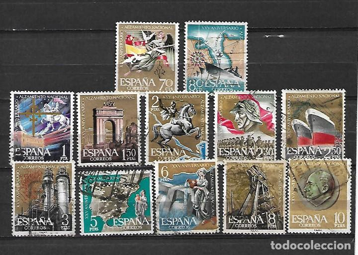 XXV ANVº ALZAMIENTO NACIONAL. ESPAÑA. EMIT. 10-7-1961 (Sellos - España - II Centenario De 1.950 a 1.975 - Usados)