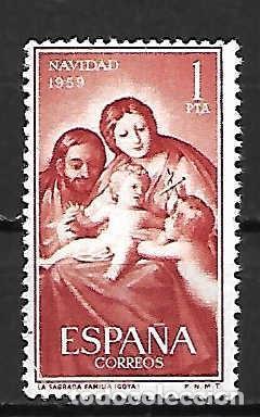 GOYA. NAVIDAD´59 - ESPAÑA . EMIT. 10-12-1959 (Sellos - España - II Centenario De 1.950 a 1.975 - Nuevos)