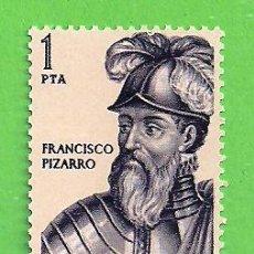 Timbres: EDIFIL 1625. FORJADORES DE AMÉRICA - FRANCISCO PIZARRO. (1964).** NUEVO SIN FIJASELLOS.. Lote 191800362