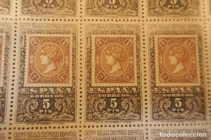 Sellos: Hoja completa. 25 sellos Centenario del sello dentado español. 5 pts. - Foto 2 - 191860846