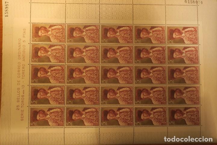 HOJA COMPLETA. 25 SELLOS. SERIE TOROS Nº 13. 5 PTS. (Sellos - España - II Centenario De 1.950 a 1.975 - Nuevos)
