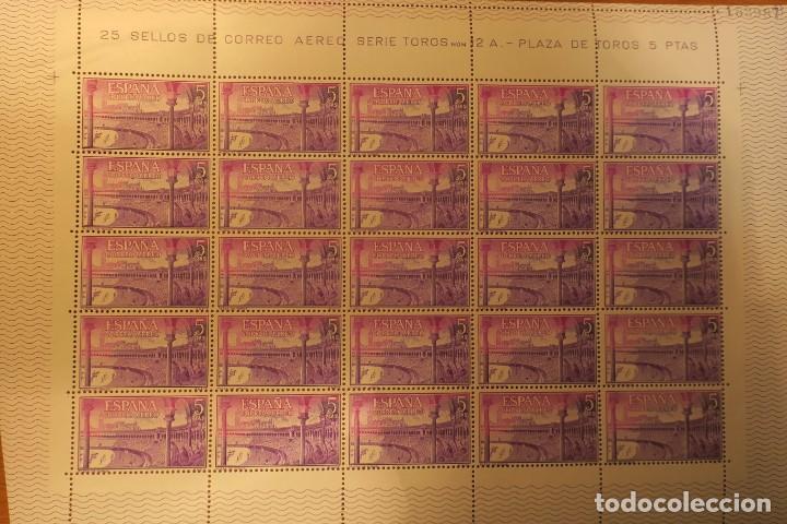 HOJA COMPLETA. 25 SELLOS. SERIE TOROS Nº 2A. 5 PTS. (Sellos - España - II Centenario De 1.950 a 1.975 - Nuevos)