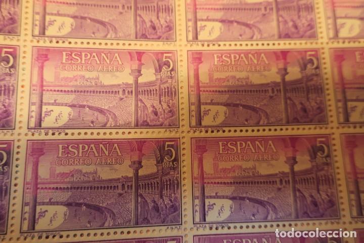Sellos: Hoja completa. 25 sellos. Serie toros nº 2A. 5 Pts. - Foto 2 - 191862378
