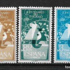 Sellos: ESPAÑA 1955 EDIFIL 1180/1182 * - 2/36. Lote 192017991