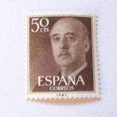 Sellos: EDIFIL 1149 SELLO NUEVO GENERAL FRANCO 50 CTS SERIE BASICA AÑO 1955. Lote 192354751