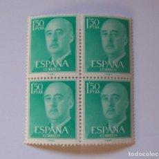 Sellos: EDIFIL 1155 BLOQUE 4 SELLOS NUEVOS FRANCO 1,50 PTS SERIE BASICA AÑO 1955. Lote 192354886