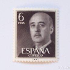Sellos: EDIFIL 1161 SELLO NUEVO GENERAL FRANCO SERIE BASICA 6 PTS AÑO 1955. Lote 192354977