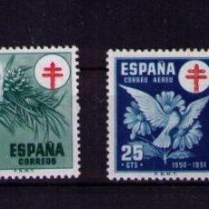 Sellos: SELLOS DE ESPAÑA AÑO 1950 PRO-TUBERCULOSOS SELLOS NUEVOS**. Lote 248022155