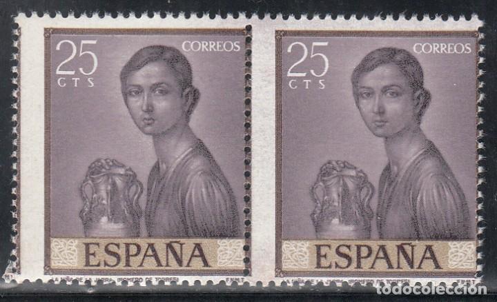 ESPAÑA, EDIFIL Nº 1657DH,, PERFORACIÓN VERTICAL DESPLAZADA LATERALMENTE Y OMISIÓN DEL COLOR DORADO (Sellos - España - II Centenario De 1.950 a 1.975 - Nuevos)