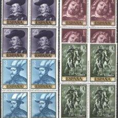Sellos: ESPAÑA, 1962 EDIFIL Nº 1434 / 1437 /**/, PEDRO PABLO RUBENS, SIN FIJASELLOS . Lote 193971133