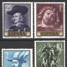 Sellos: ESPAÑA, 1962 EDIFIL Nº 1434 / 1437 /**/, PEDRO PABLO RUBENS, SIN FIJASELLOS . Lote 193971333