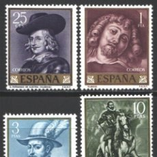 Sellos: ESPAÑA, 1962 EDIFIL Nº 1434 / 1437 /**/, PEDRO PABLO RUBENS, SIN FIJASELLOS . Lote 193971585