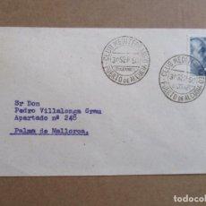 Sellos: PUERTO DE ALCUDIA 1950 DESAPARECIDO CLUB MEDITERRANEO CIRCULADA A PALMA DE MALLORCA BALEARES. Lote 193981768