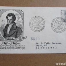 Sellos: MAHON BALEARES 1953 DR MATEO ORFILA CIRCULADA A BARCELONA . Lote 193981852