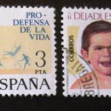 Sellos: 2282, DOS SERIES EN USADO. VIDA.. Lote 194221758