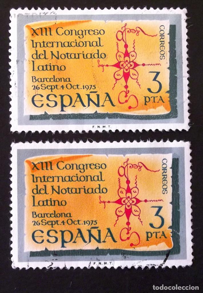 2283, DOS SERIES EN USADO. NOTARIADO. (Sellos - España - II Centenario De 1.950 a 1.975 - Usados)