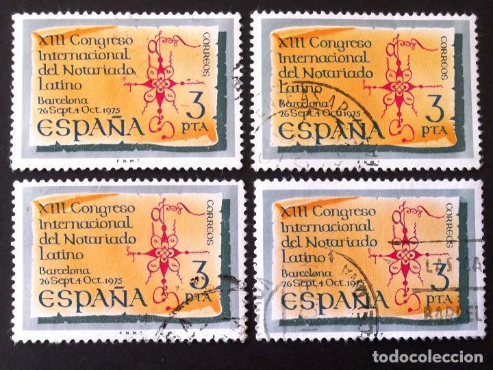 2283, CUATRO SERIES EN USADO. NOTARIADO. (Sellos - España - II Centenario De 1.950 a 1.975 - Usados)