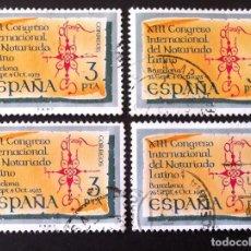 Sellos: 2283, CUATRO SERIES EN USADO. NOTARIADO.. Lote 194222353