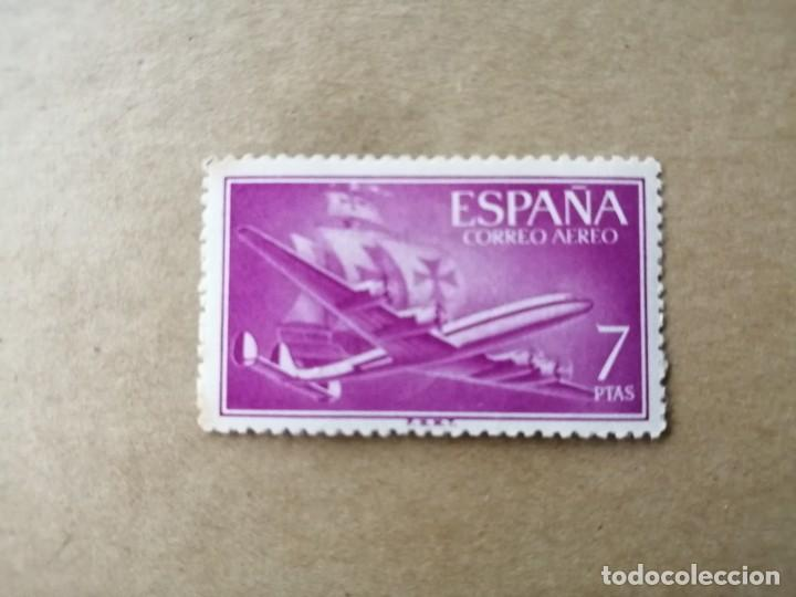 Sellos: EDIFIL 1178 -VALOR FACIAL 7 PTS-AÑO 1955 56, DE LA SERIE: SUPERCONSTELLATION Y NAO SANTA MARIA - Foto 1 - 194231761
