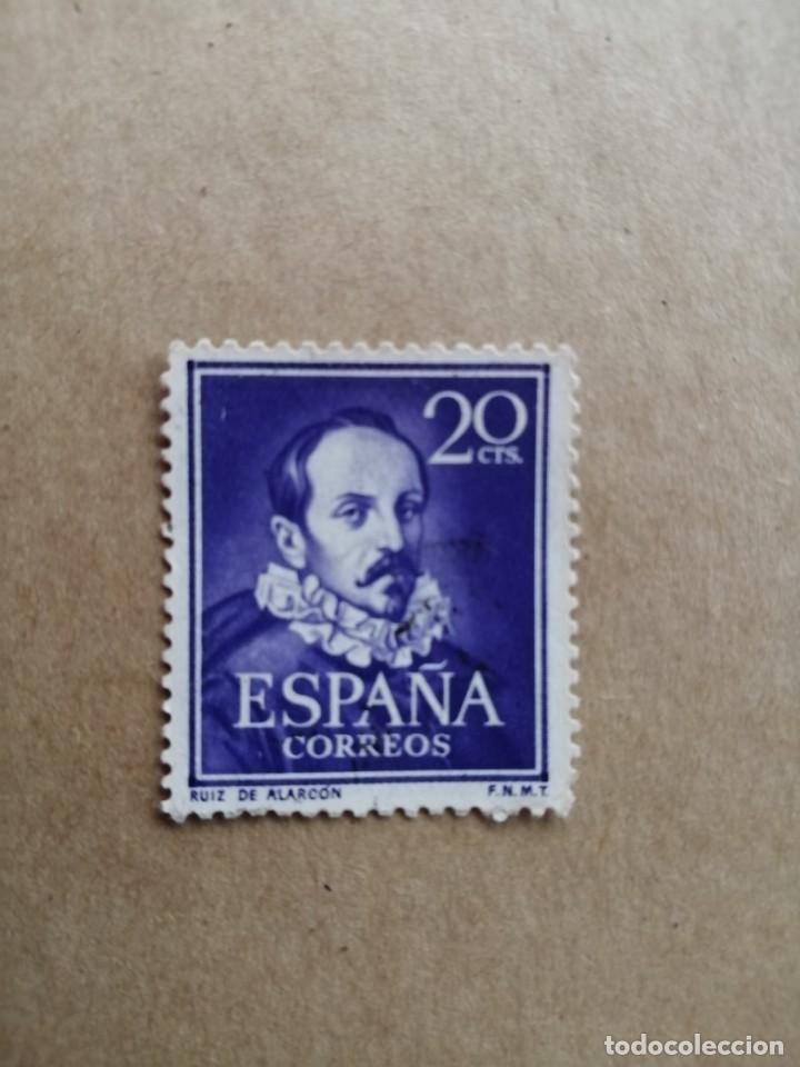EDIFIL 1074 - VALOR FACIAL 20 CTS. - AÑO 1950 - 53 - RUIZ DE ALARCON, DE LA SERIE: LITERATOS (Sellos - España - II Centenario De 1.950 a 1.975 - Nuevos)