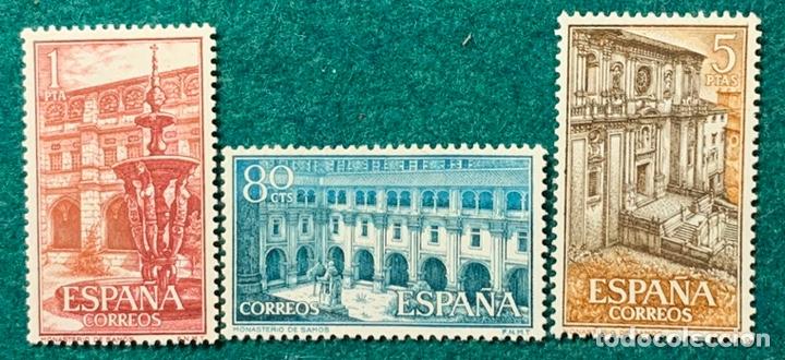 AÑO 1960. Nº 1322/24. REAL MONASTERIO DE SAMOS. SERIE NUEVA SIN SEÑAL DE FIJASELLOS (Sellos - España - II Centenario De 1.950 a 1.975 - Nuevos)