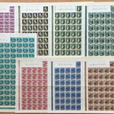 Sellos: 1960-ESPAÑA 1270/79 MNH** BARTOLOMÉ ESTEBAN MURILLO - EN PLIEGOS COMPLETOS DE 100 SELLOS - VC: 430 €. Lote 194288038