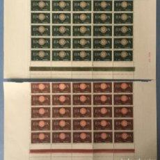 Sellos: 1960-ESPAÑA 1294/95 MNH** EUROPA CEPT - BLOQUES DE 25 SELLOS - VC: 55 €. Lote 194309088