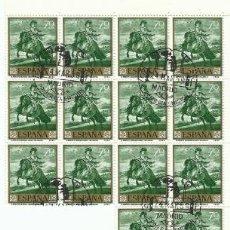 Sellos: 14 SERIES COMPLETAS PRIMERA EDICIÓN SELLOS ESPAÑA 1959 - PINTOR VELÁZQUEZ - 10 VALORES. Lote 194316817
