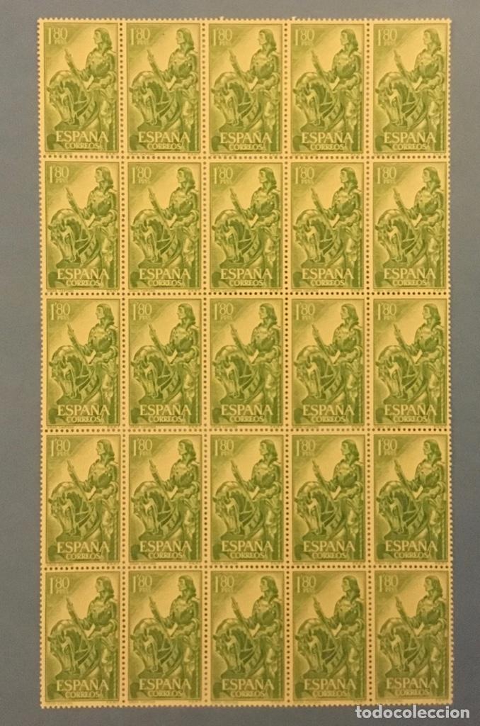 1958-ESPAÑA 1209 MNH** GONZALO FERNÁNDEZ DE CÓRDOBA EL GRAN CAPITÁN - BLOQUE 25 SELLOS - (Sellos - España - II Centenario De 1.950 a 1.975 - Nuevos)