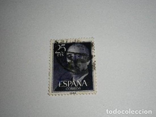 SELLO DE 25 CÉNTIMOS DE FRANCO USADO (Sellos - España - II Centenario De 1.950 a 1.975 - Usados)