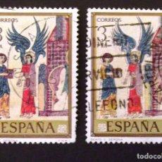 Sellos: 2286, DOS SELLOS USADOS CON MATASELLOS DE SOLSONA Y BARCELONA. CÓDICES.. Lote 194611543