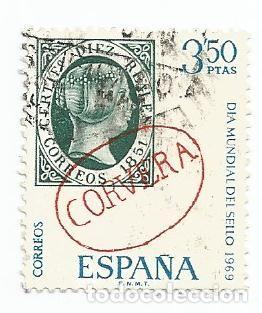 LOTE DE 4 SELLOS USADOS DE 1969- SERIE DIA MUNDIAL DEL SELLO- EDIFIL 1922 Y 1923- 1 SERIE COMPLETA (Sellos - España - II Centenario De 1.950 a 1.975 - Usados)