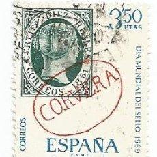 Sellos: LOTE DE 4 SELLOS USADOS DE 1969- SERIE DIA MUNDIAL DEL SELLO- EDIFIL 1922 Y 1923- 1 SERIE COMPLETA. Lote 194873070