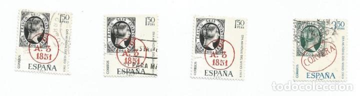 Sellos: LOTE DE 4 SELLOS USADOS DE 1969- SERIE DIA MUNDIAL DEL SELLO- EDIFIL 1922 Y 1923- 1 SERIE COMPLETA - Foto 2 - 194873070