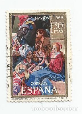 LOTE DE 37 SELLOS USADOS DE 1969- SERIE DE NAVIDAD-EDIFIL 1944 Y 1945- VARIEDAD (Sellos - España - II Centenario De 1.950 a 1.975 - Usados)