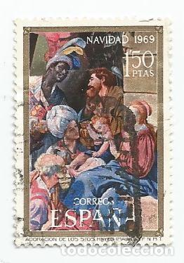 Sellos: LOTE DE 37 SELLOS USADOS DE 1969- SERIE DE NAVIDAD-EDIFIL 1944 Y 1945- VARIEDAD - Foto 3 - 194876122