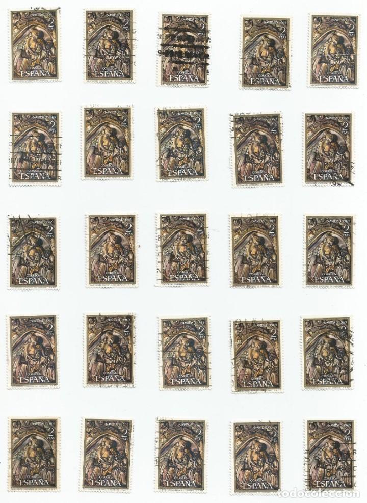Sellos: LOTE DE 37 SELLOS USADOS DE 1969- SERIE DE NAVIDAD-EDIFIL 1944 Y 1945- VARIEDAD - Foto 11 - 194876122
