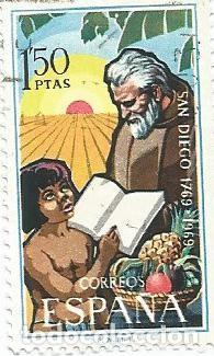 LOTE DE 7 SELLOS USADOS DE 1969 DE LA SERIE FUNDACION DE SAN DIEGO-CALIFORNIA- EDIFIL 1932- (Sellos - España - II Centenario De 1.950 a 1.975 - Usados)