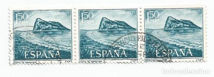 LOTE DE 62 SELLOS USADOS DE 1969- SERIE PRO TRABAJADORES ESPAÑOLES DE GIBRALTAR-EDIFIL 1934 Y 1935 (Sellos - España - II Centenario De 1.950 a 1.975 - Usados)